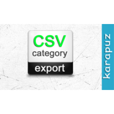 CSV Category Export (Opencart 1.5)