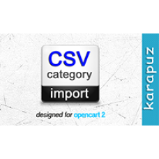 CSV Category Import (Opencart 2)