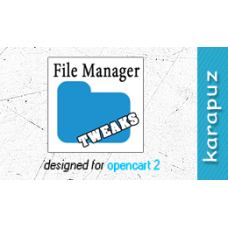 File Manager Tweaks (Opencart 2)