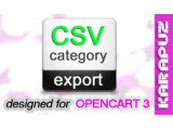 CSV Category Export (Opencart 3)