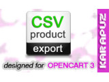 CSV Product Export (Opencart 3)
